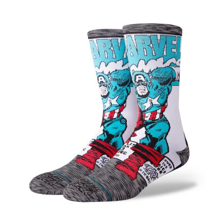Stance Captain America Comic Socks - Grey
