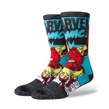 Stance Iron Man Comic Socks - Grey