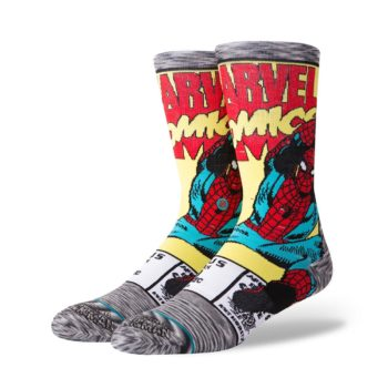 Stance Spider Man Comic Socks - Grey