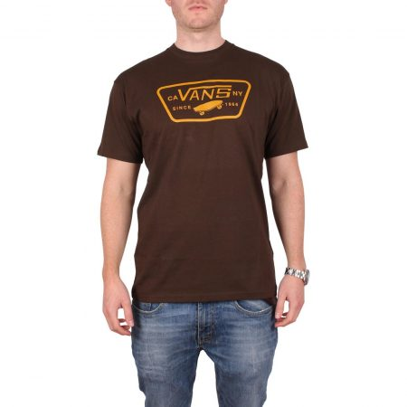 Vans Full Patch S/S T-Shirt - Dark Chocolate / Golden Yellow