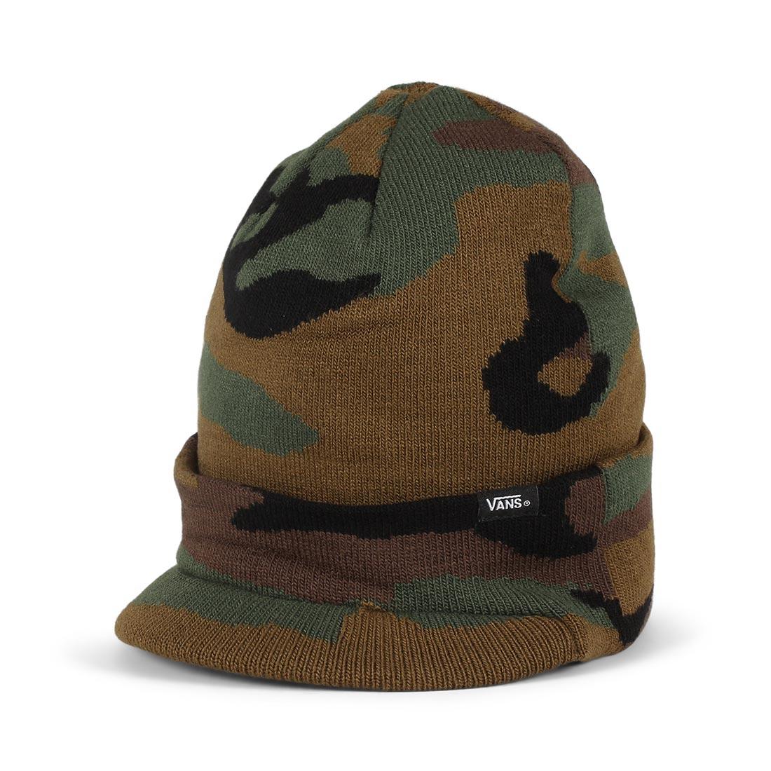 eabe32032f6b34 Vans Visor Cuff Beanie Hat – Camo