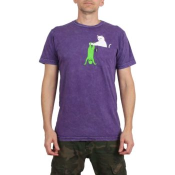 RIPNDIP Break Yo Self S/S T-Shirt - Purple Mineral Wash
