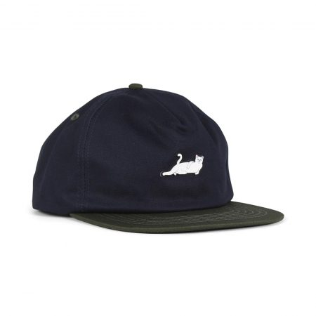 RIPNDIP Castanza 5 Panel Snapback Hat - Navy / Hunter Green