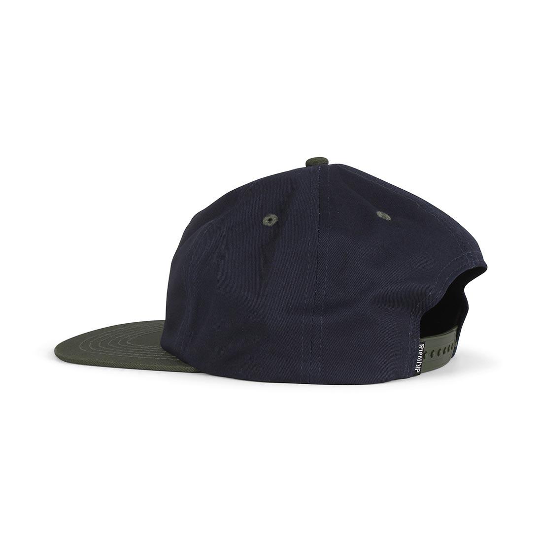 RIPNDIP Castanza 5 Panel Snapback Hat - Navy / Hunter Green