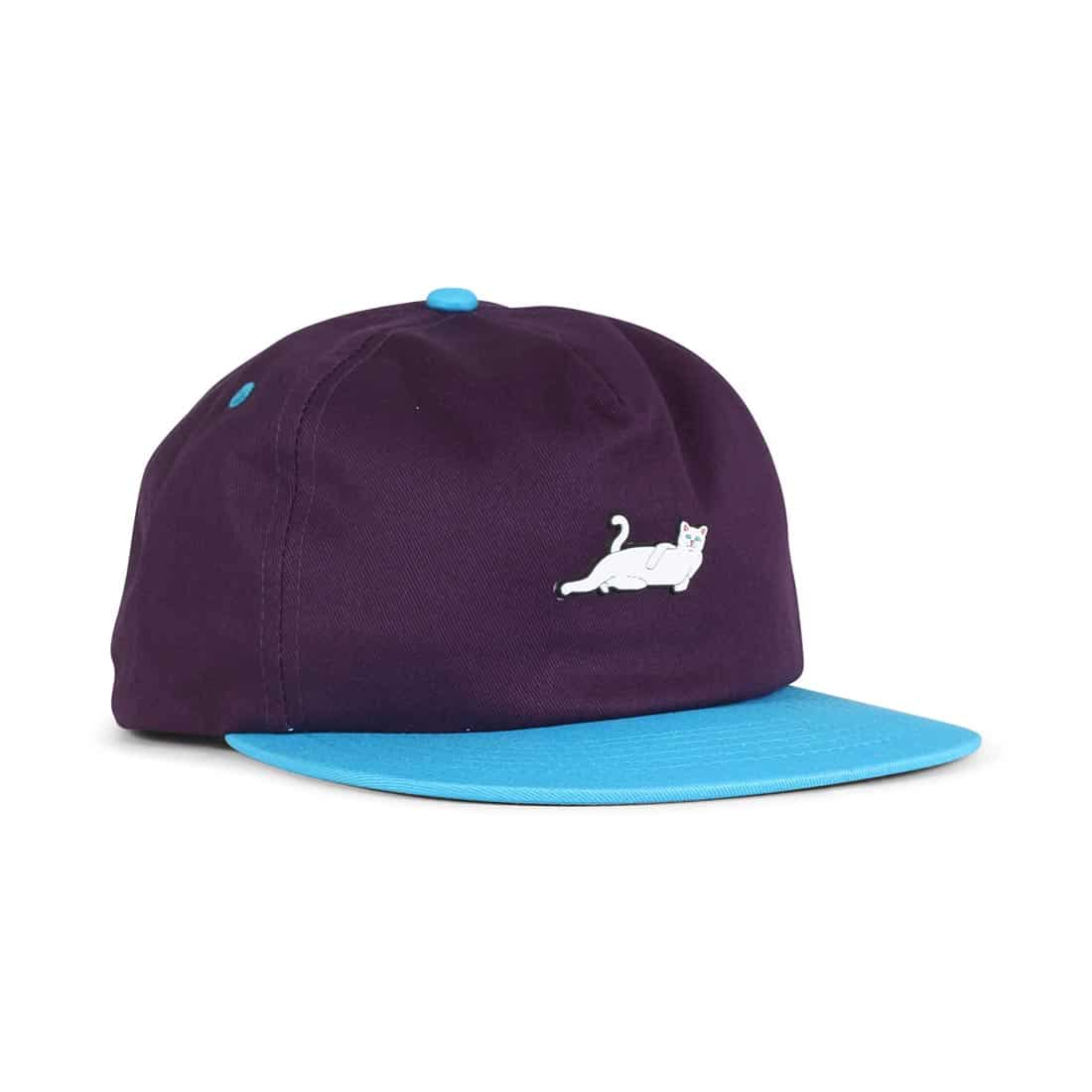 RIPNDIP Castanza 5 Panel Snapback Hat - Lavender / Blue