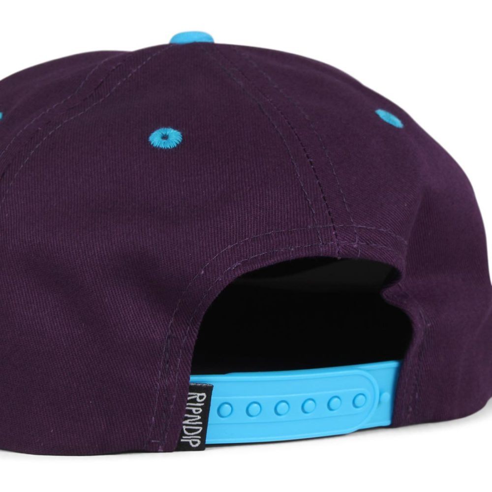 RIPNDIP-Castanza-5 Panel-Snapback-Hat-Navy-Lavender-Blue-04