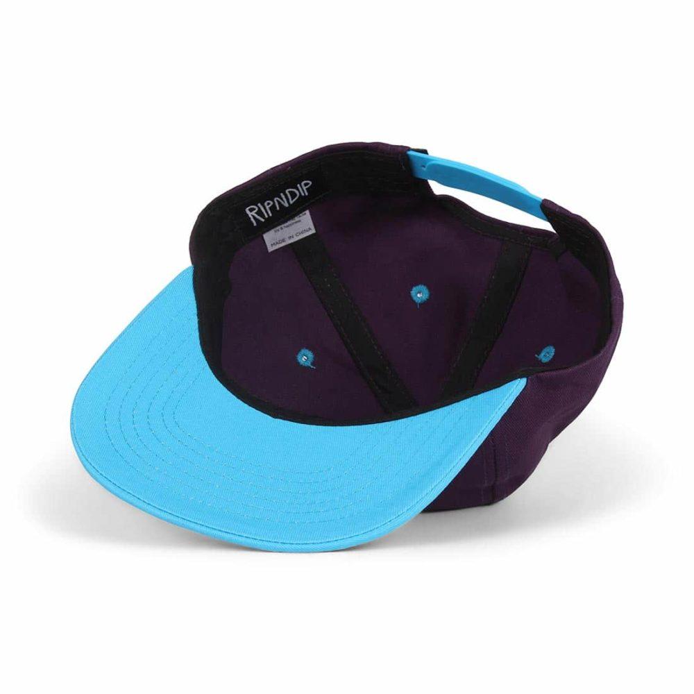 RIPNDIP-Castanza-5 Panel-Snapback-Hat-Navy-Lavender-Blue-05