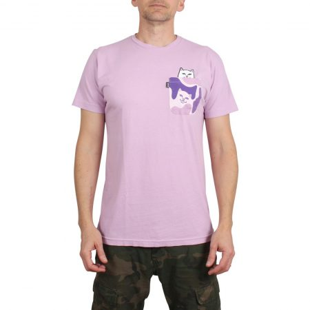 RIPNDIP Lord Nermal Camo Pocket S/S T-Shirt - Purple Camo