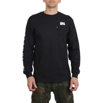 RIPNDIP Lord Nermal L/S Pocket T-Shirt - Black