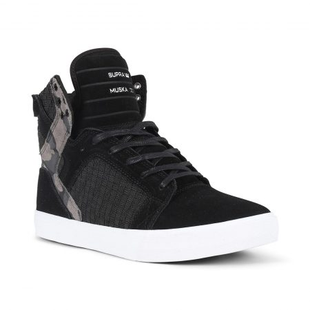 Supra Skytop Shoes - Black / Camo / White