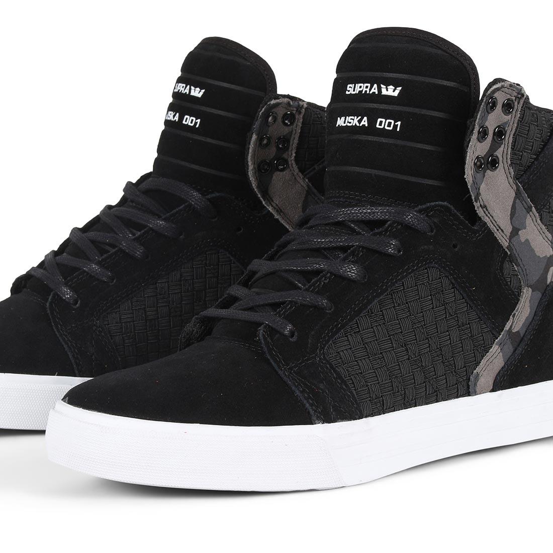 Supra Skytop Shoes - Black / Camo / White