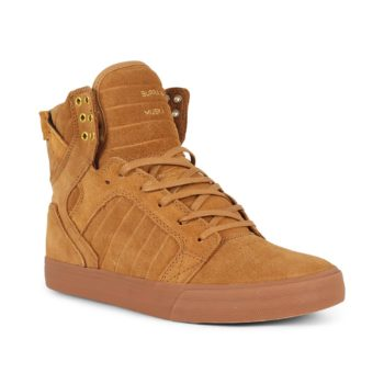 Supra Skytop Shoes - Tan / Lt Gum