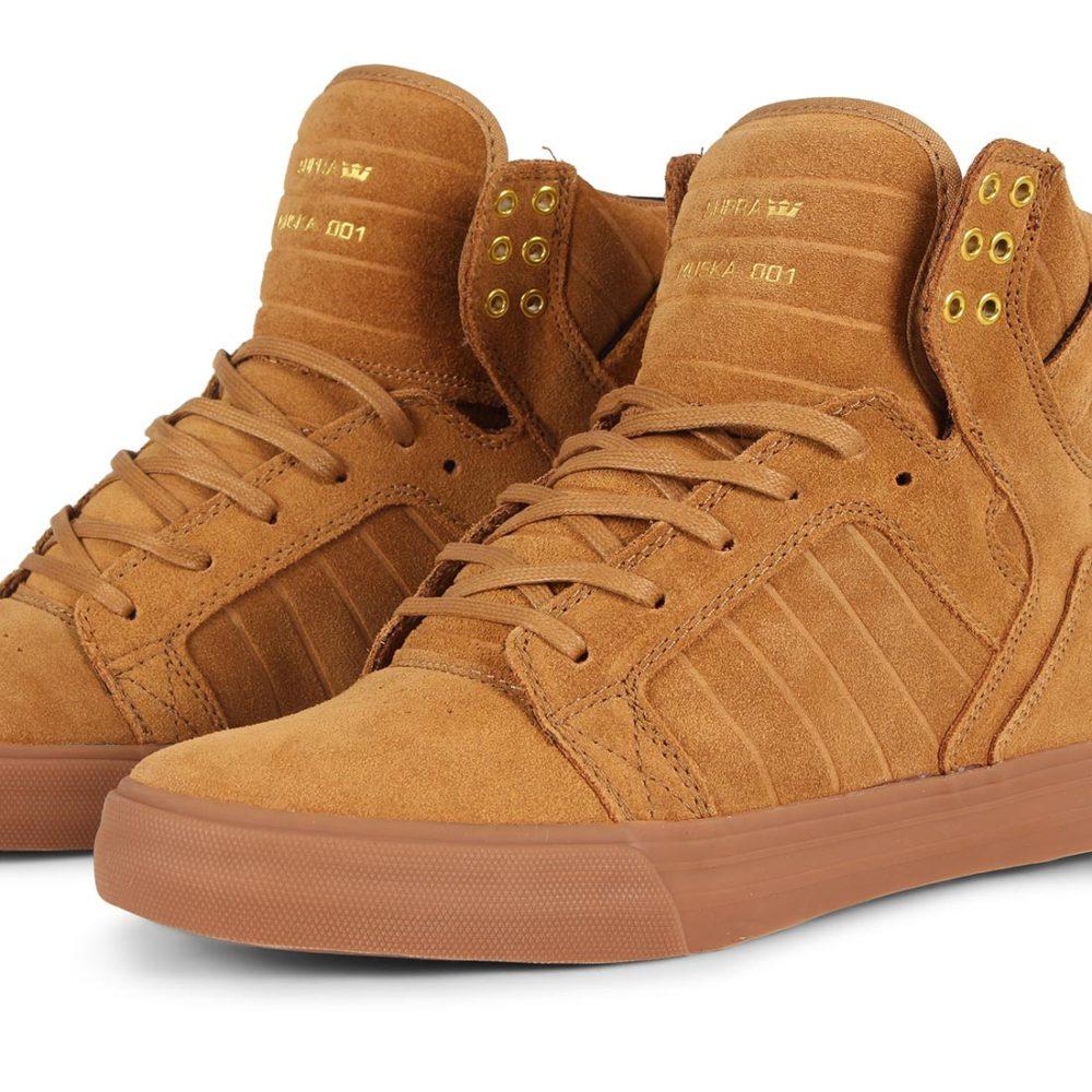 Supra Skytop Shoes - Tan / Lt Gum