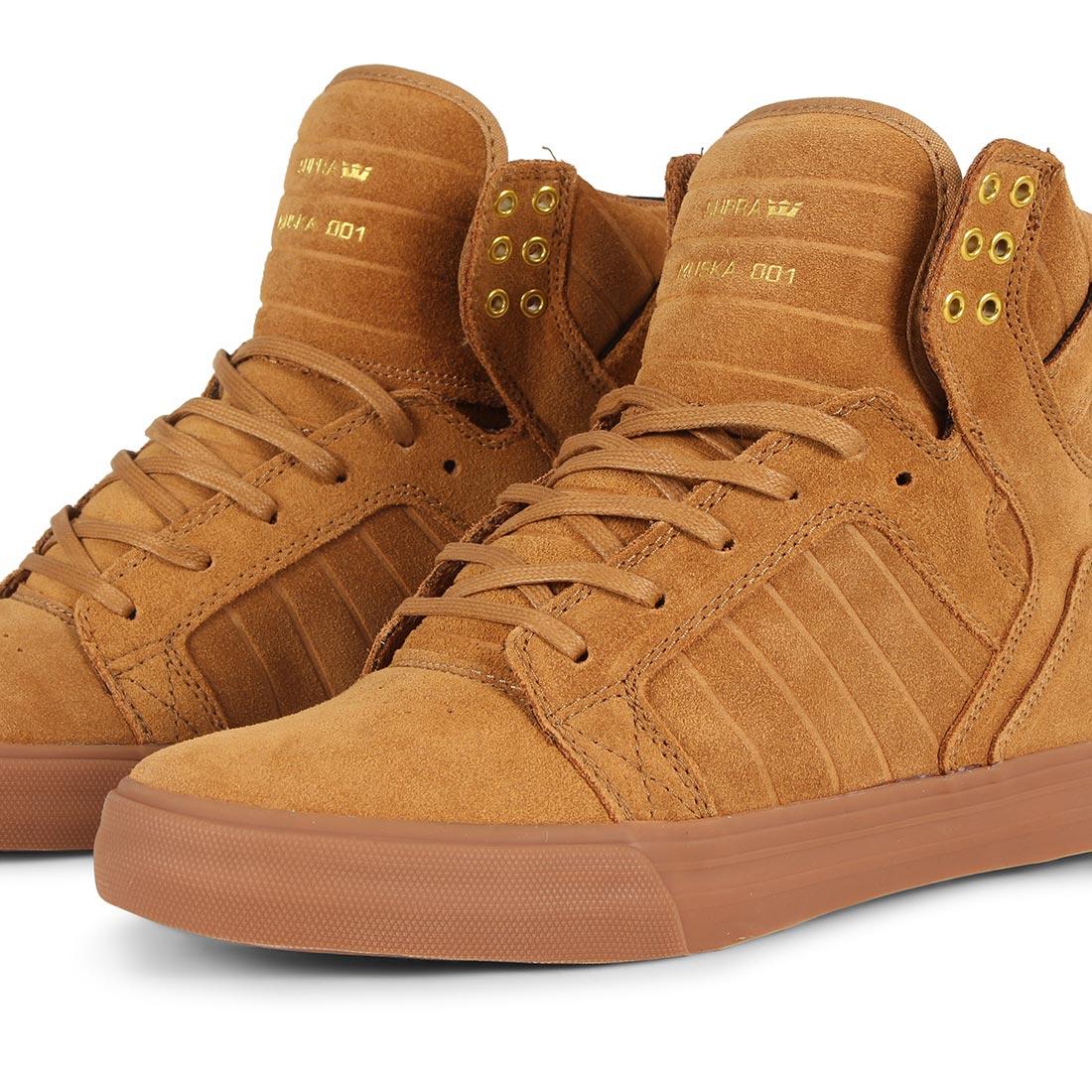 42e7ee56112 Supra Skytop Shoes - Tan / Lt Gum