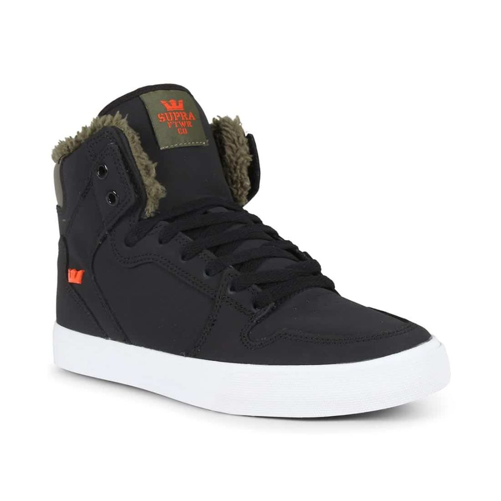 0951a1856333 Supra Vaider High Top Shoes - Black   Olive Night   White