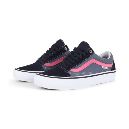 Vans Old Skool Pro Skate Shoes - Sky Captain / Pink