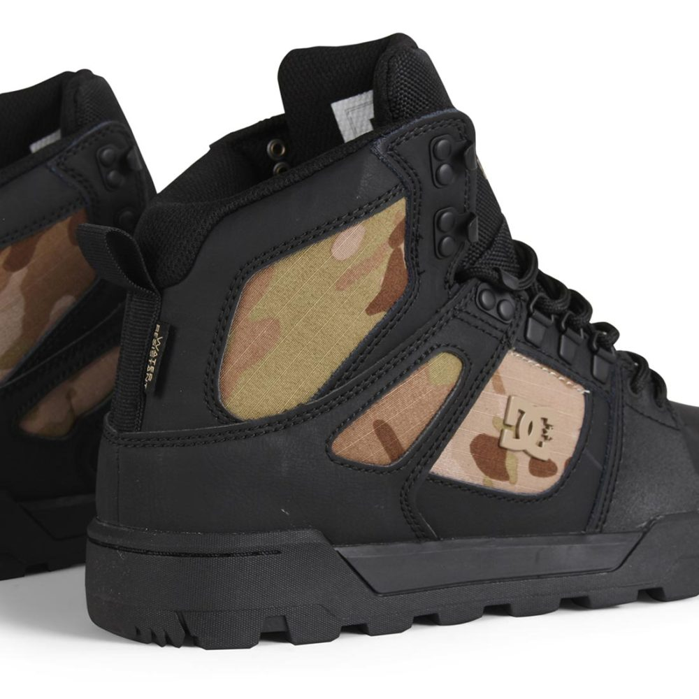 Dc Shoes Boot Camo High Black Pure Top Wr rrwXd7q
