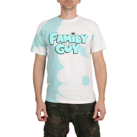 Diamond x Family Guy Crystal Wash S/S T-Shirt - Diamond Blue