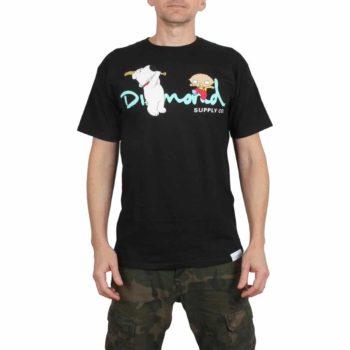 Diamond x Family Guy OG Script S/S T-Shirt - Black