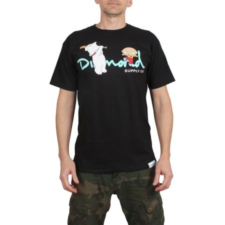Diamond x Family Guy OG Script S/S T-Shirt - Black
