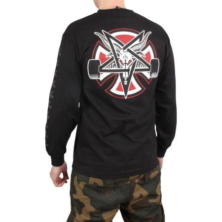 Independent x Thrasher Pentagram Cross L/S T-Shirt - Black