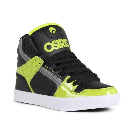 Osiris Clone High Top Shoes - Lime / Black / White