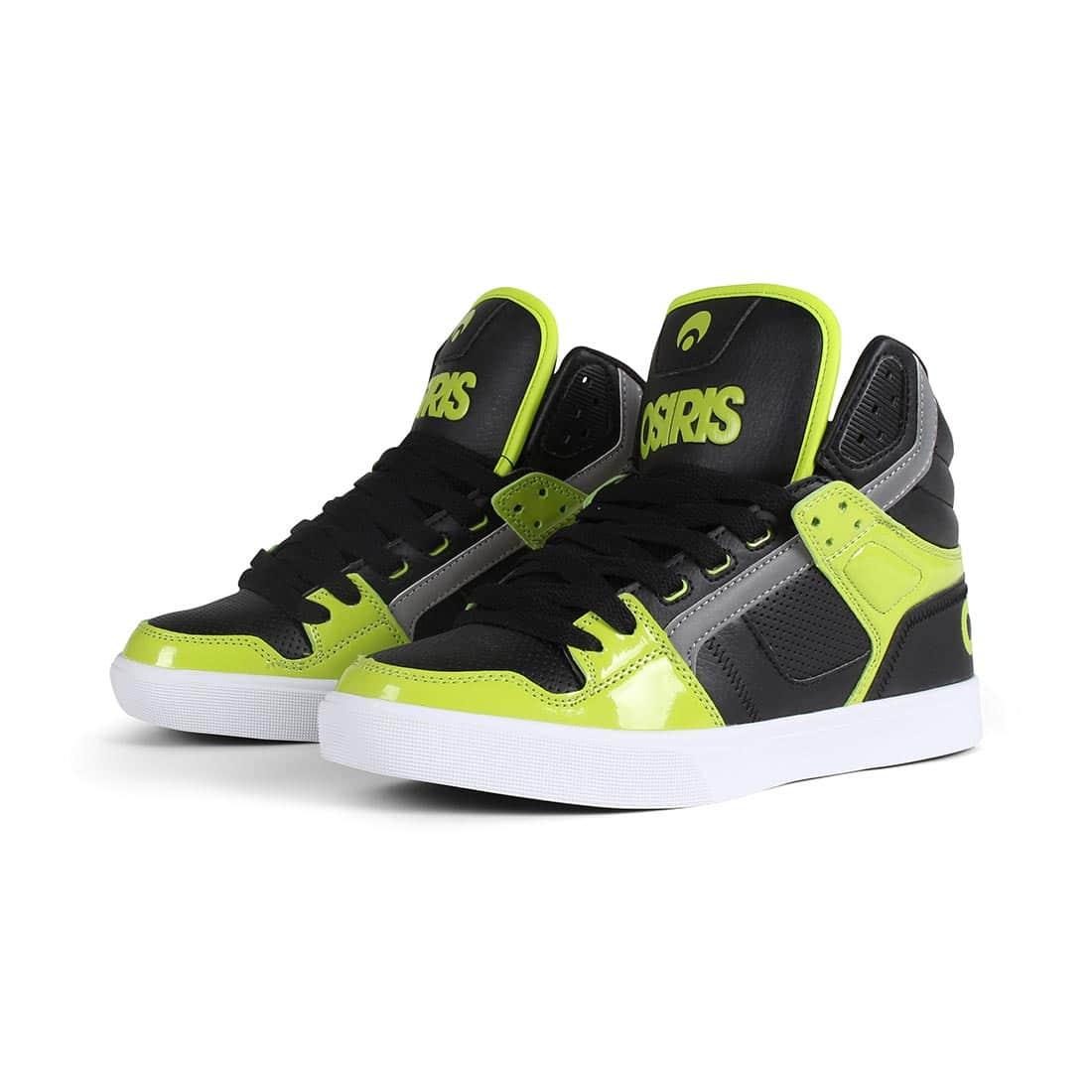 Osiris Clone High Top Shoes - Lime / Black / White