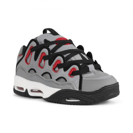 Osiris D3 2001 Shoes - Grey / Red / Black