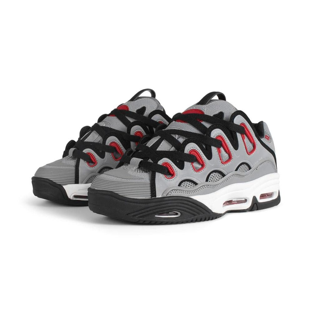 Osiris D3 2001 Shoes - Grey / Red / Black