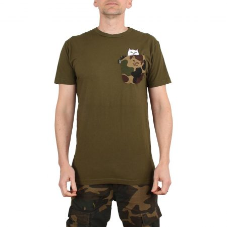 RIPNDIP Lord Nermal Camo Pocket S/S T-Shirt - Army Camo