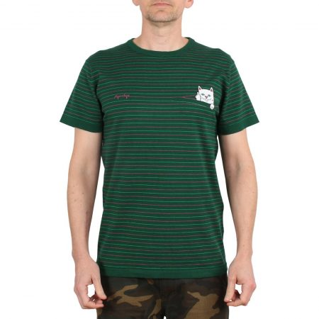 RIPNDIP Peeking Nermal Knit S/S T-Shirt - Hunter Green / Pink
