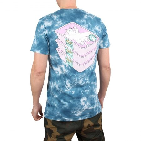 RIPNDIP Prime Cut S/S T-Shirt - Blue / Pink Lightning Wash