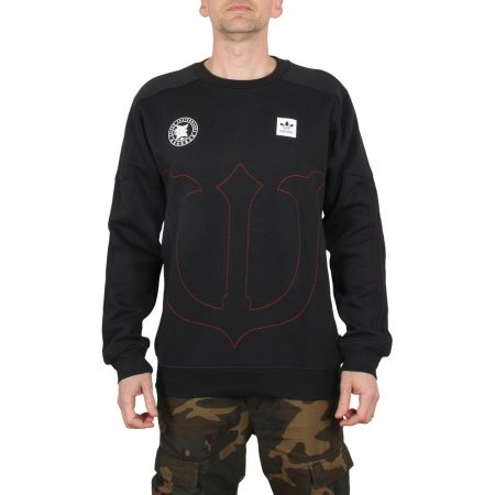 Adidas Evisen Crew Sweater - Black / Scarlet