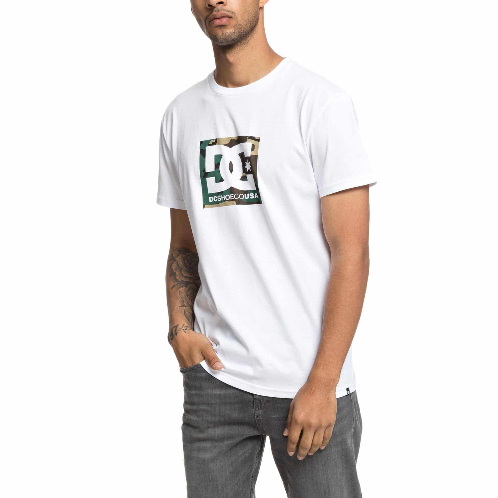 DC Shoes Camo Boxing S/S T-Shirt – Snow White