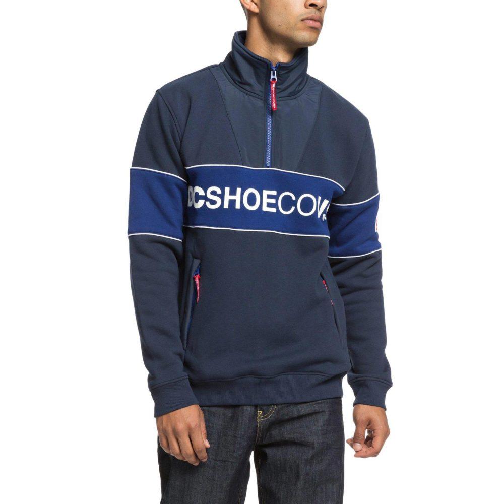 DC Shoes Clewiston Half Zip Mock Zip Sweatshirt BTL0 4