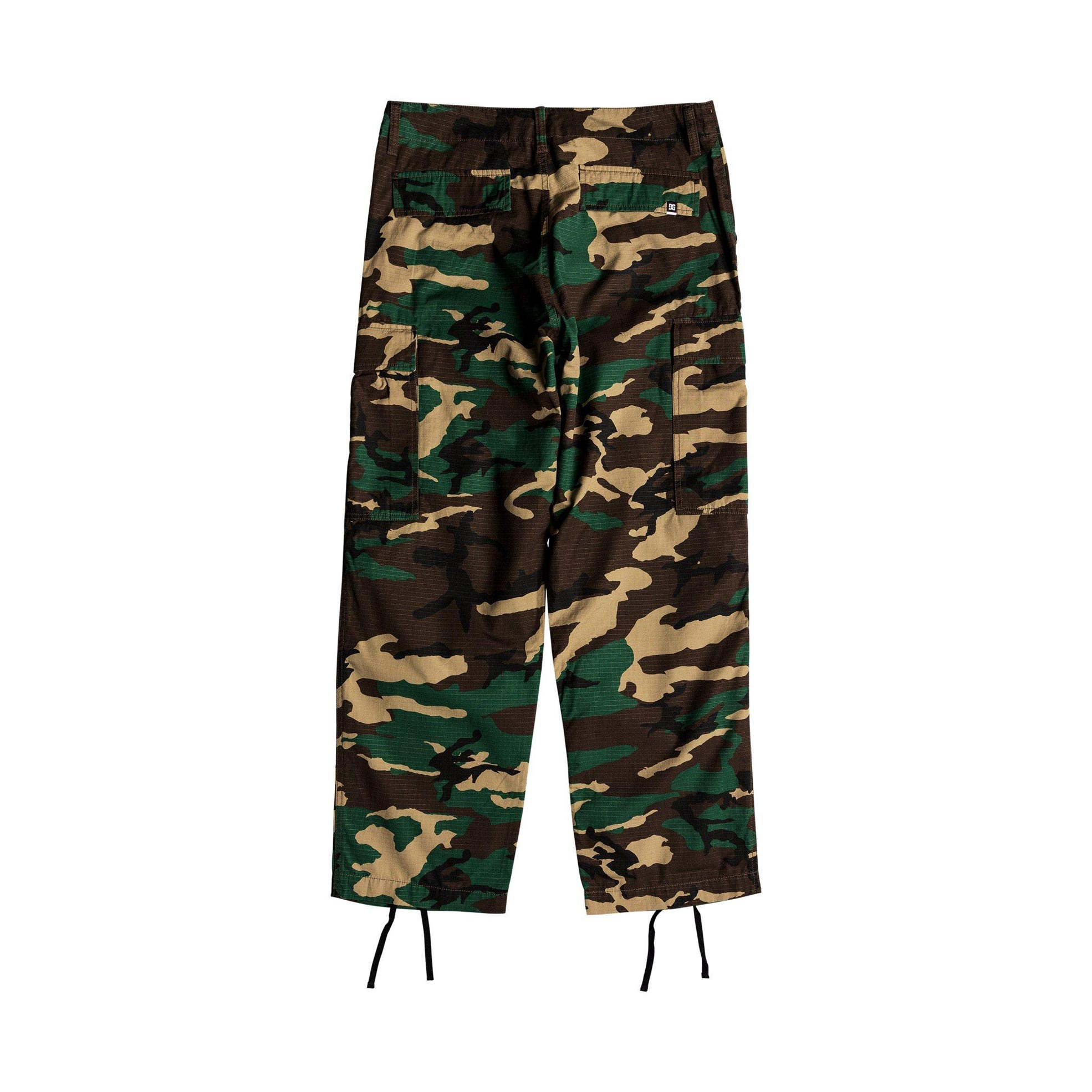 DC Shoes Infield Military Cargo Trousers GRW6