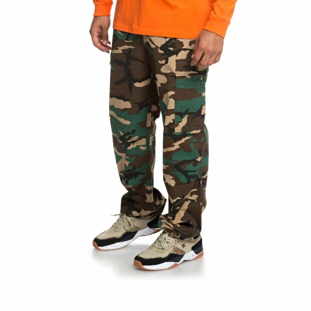 DC Shoes Infield Military Cargo Trousers GRW6 6