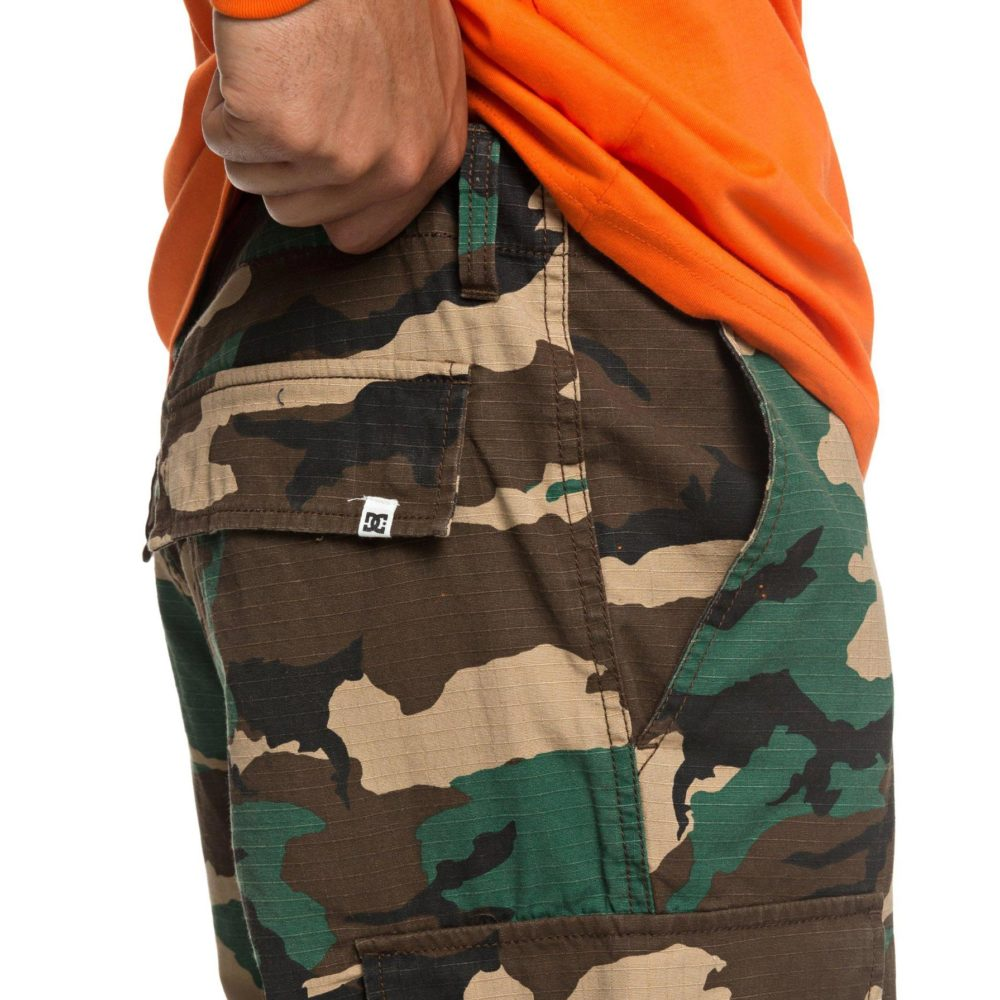 DC Shoes Infield Military Cargo Trousers GRW6 7