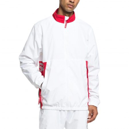 DC Shoes Skate Zip Up Tracksuit Jacket White WBB0