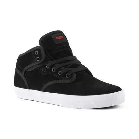 Globe Motley Mid Shoes - Black Suede / White