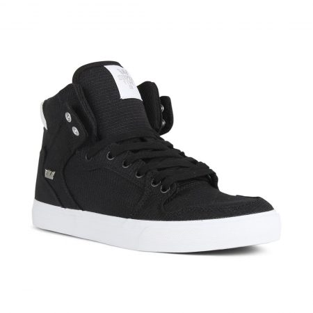 Supra Vaider High Top Shoes - Black / Silver / White