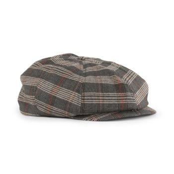 Brixton Brood Snap Cap - Grey / Tan Plaid