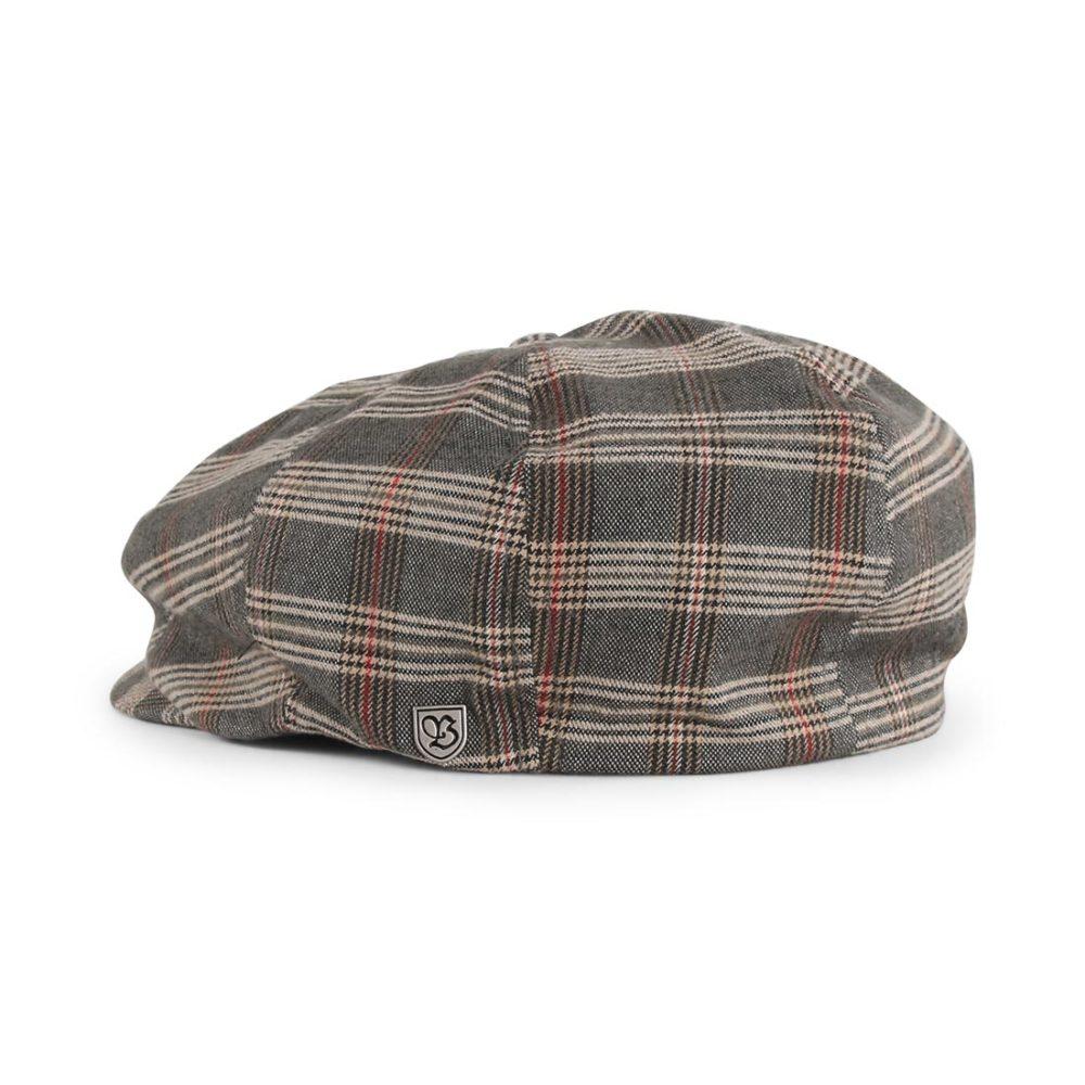 Brixton Brood Snap Cap - Grey / Tan Plaid