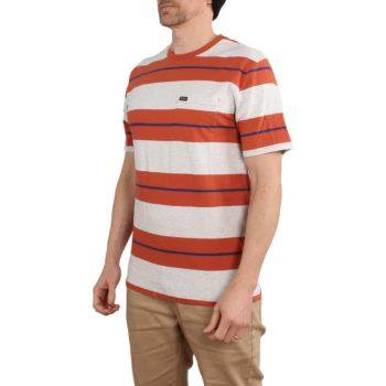 Brixton Hilt Pocket Knit S/S T-Shirt - Henna / Ash