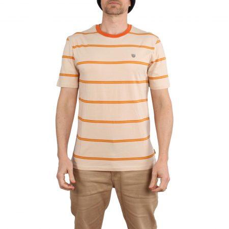 Brixton x Independent Deputy Knit S/S T-Shirt - Orange / Tan