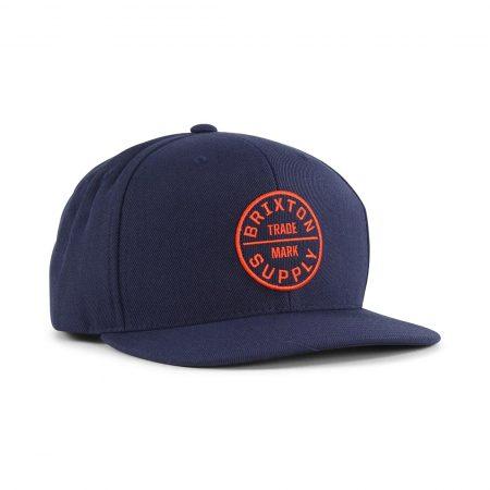Brixton Oath III Snapback Hat - Patriot Blue