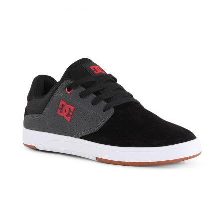 DC Shoes Plaza TC S - Black / Dark Grey / Athletic Red