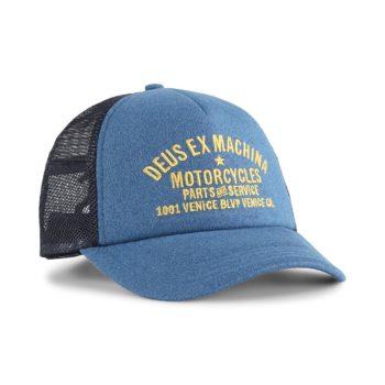 Deus Ex Machina Marle Venice Trucker Cap - Dark Blue Marle
