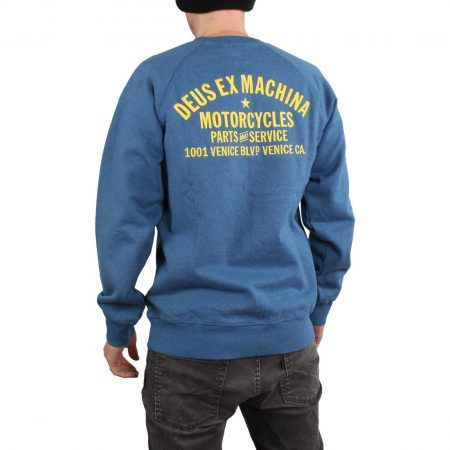 Deus Ex Machina Premium Venice Crew Sweater - Dark Blue Marle
