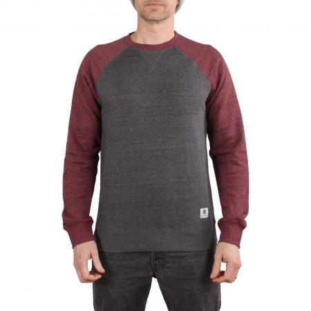 Element Meridian Block Crew Sweater - Mid Grey Heather